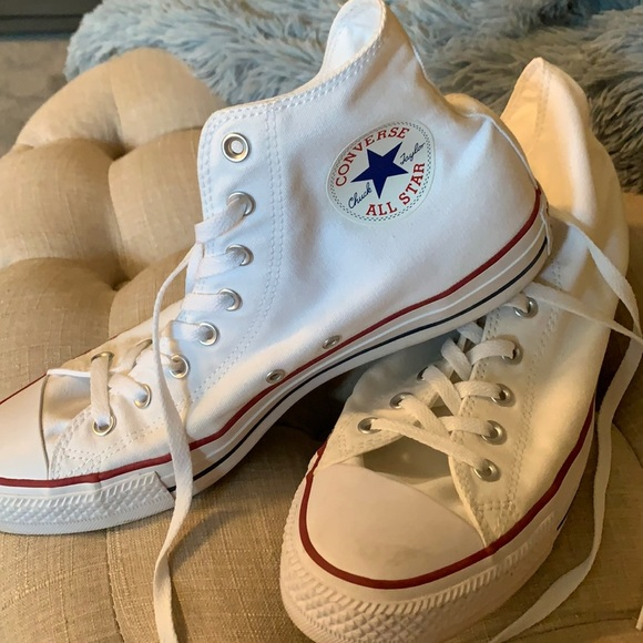 Converse White Hi Tops in Great Condition!